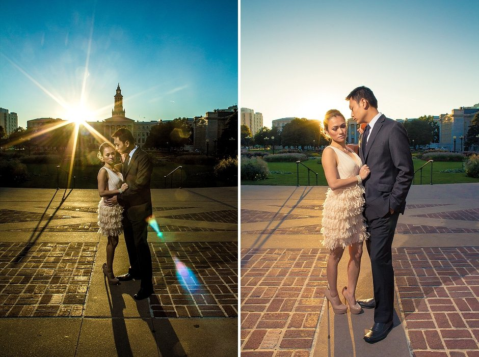 Tam and Truc's Couture Engagement Session in Denver, CO