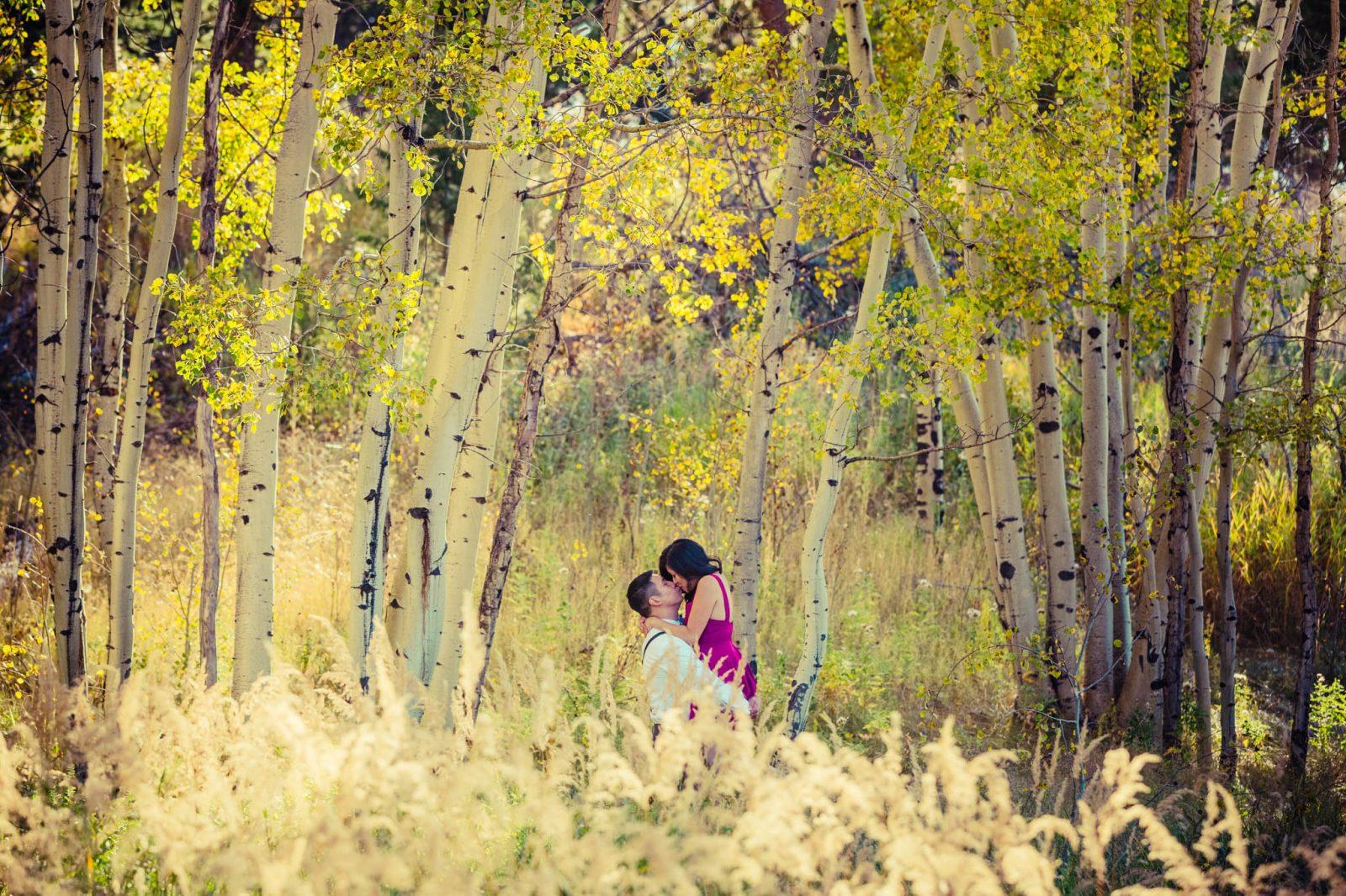 Aspen Colorado Vail Mountain Outdoor Engagement Photography