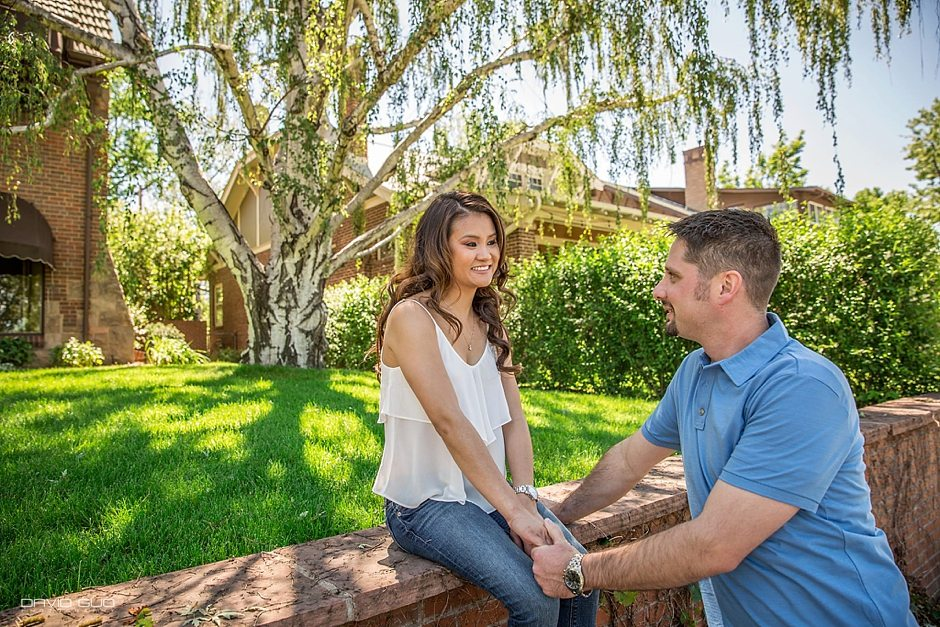 Wash Park 16 Street Denver Pavilion Engagement Photos_0009